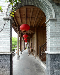 ancient architectural buildings in heshun town, yunnan, china