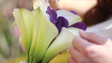 Wedding bouquet of the bride
