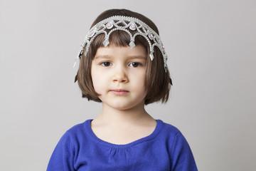 cute preschool child with tiara for fun beauty awards