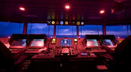 wheelhouse in modern ship