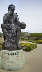 Statue of Hamlet William Shakespeares character.