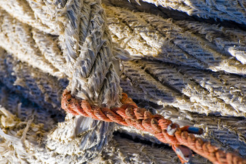 Mooring Rope on the winch