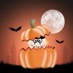 baby in the pumpkin
