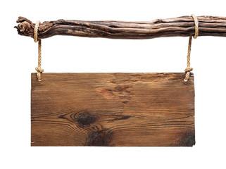 rustic  wooden signboard