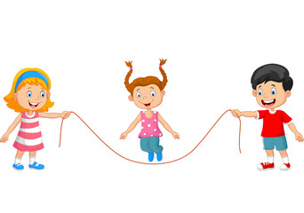 Playing jump rope