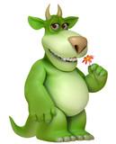 green cartoon monster 3d