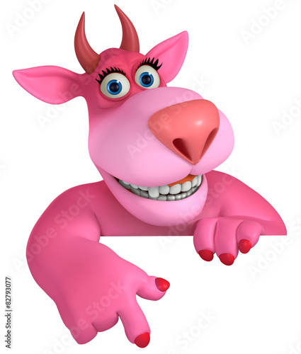 Tuinposter Sweet Monsters pink cartoon monster 3d