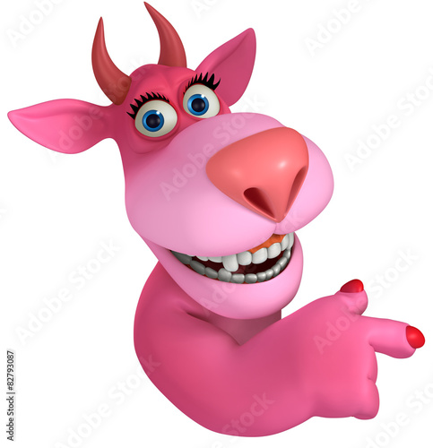 Fotobehang Sweet Monsters pink cartoon monster 3d