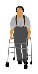 elderly man with walker