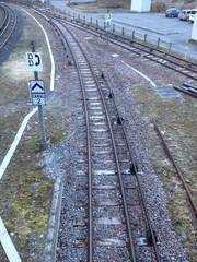 Railway  at Chamonix in France