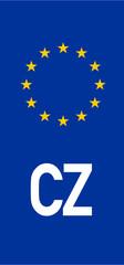 Czech vehicle registration plate (CZ)