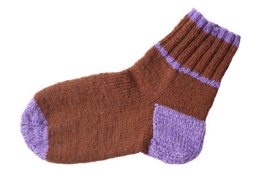 Woollen knitted sock