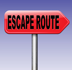 escape route to safety