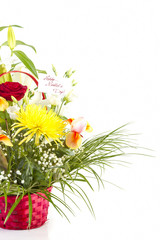 Basket with flowers for Mother day