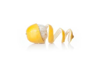yellow lemon fruit isolated on white background