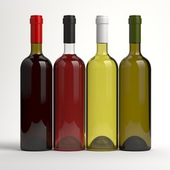Wine bottles without labels