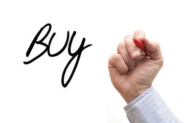 Hand Writing 'Buy'