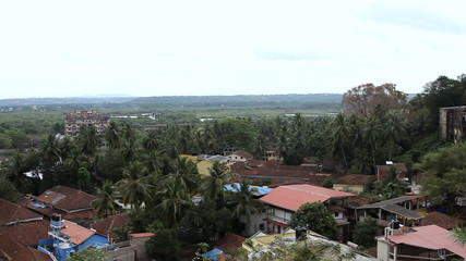Panorama view on the Panjim city from Maruti Temple
