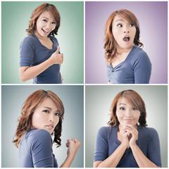 Asian woman face