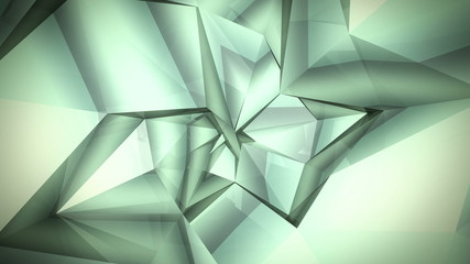 Low-Poly Background rotating twisted shape