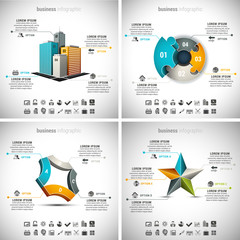 4 in 1 Business Infographics bundle.