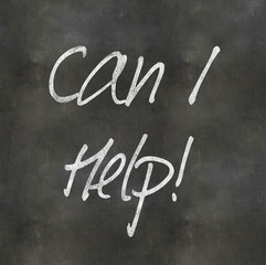 Hand Writing 'Can I Help'