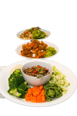 Chili paste and vegetable side dishes