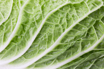 close up of Chinese cabbage