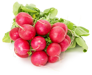 bunch of radish isolated on a white background