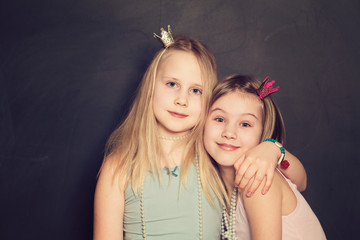Portrait of Beautiful Little Girls