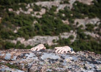 rock climbers hands