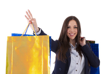 woman with shopping bags, lifestyle