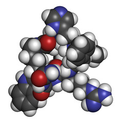 Octacosanol plant wax component molecule.