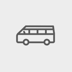 Minibus thin line icon
