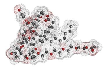 Polysorbate 80 surfactant and emulsifier molecule.