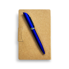 recycled paper cover and pen(with clipping path )