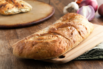 Homemade Italian Stuffed Bread