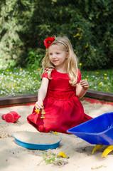 child playing in playground