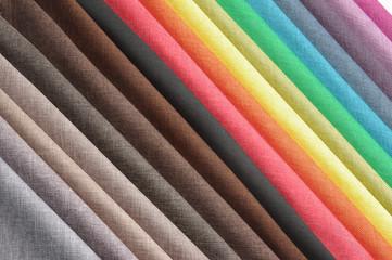Heap of cloth fabrics.