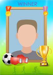 Sport winner frame
