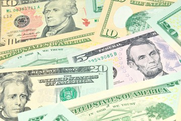 US dollars abstract background