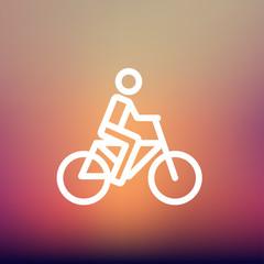 Racing bike thin line icon
