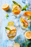 Naklejka  citrus water with mint