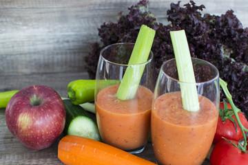 Blended vegetable and fruits