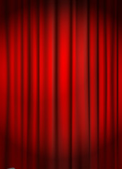 red curtain backround vector illustration