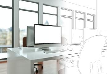 Entwurf modernes Büro