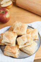Puff pastry with apple.