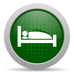 hotel icon bed sign