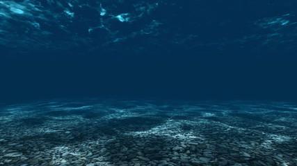 Underwater, ocean surface and bottom