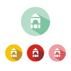 Iconos piezas de construcción botón colores sombra